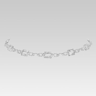 Swarovski Crystal Baguette Link Necklace 15 Inches