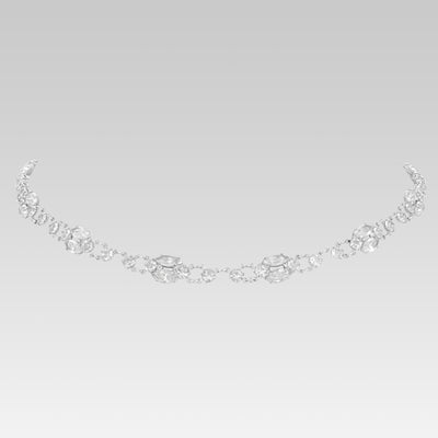 Swarovski Crystal Navette Link Necklace 15 Inches