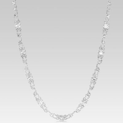 Swarovski Crystal Emerald Cut Link Necklace 18 Inches