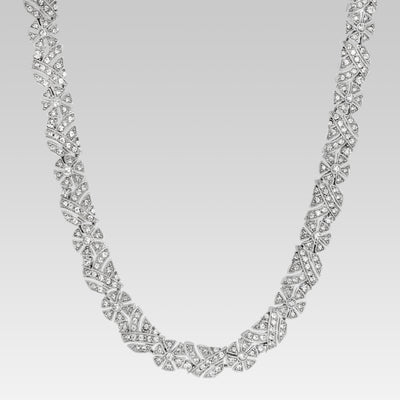 Swarovski Crystal Floral Link Necklace 15 Inch