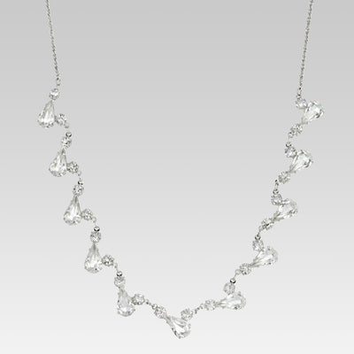 Swaovski Crystal Tear Drop Necklace 15 Inches