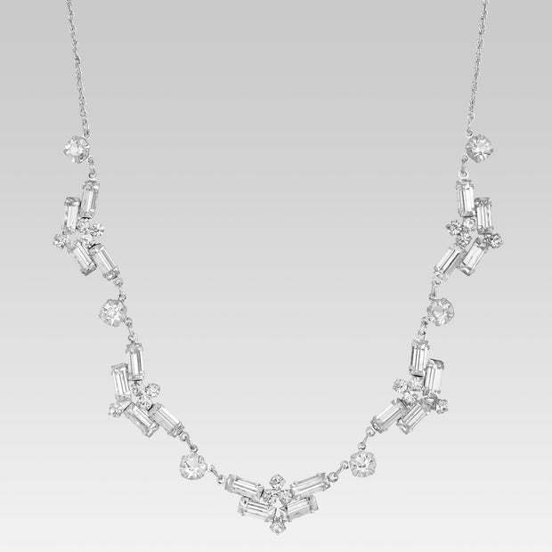 Navette Swaovski Crystal Necklace 16 Inches