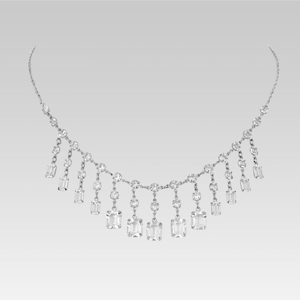 Swarovski Crystal Drop Necklace 15.5 Inches