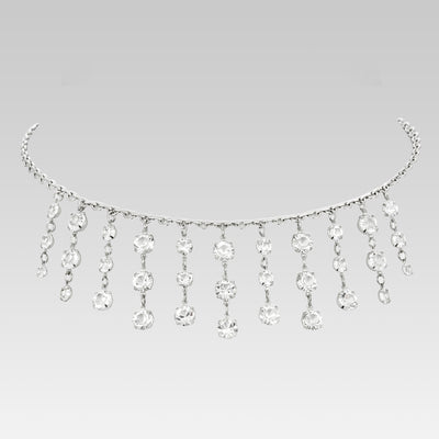 Swarovski Crystal Drop Necklace 15 Inch Adjustable