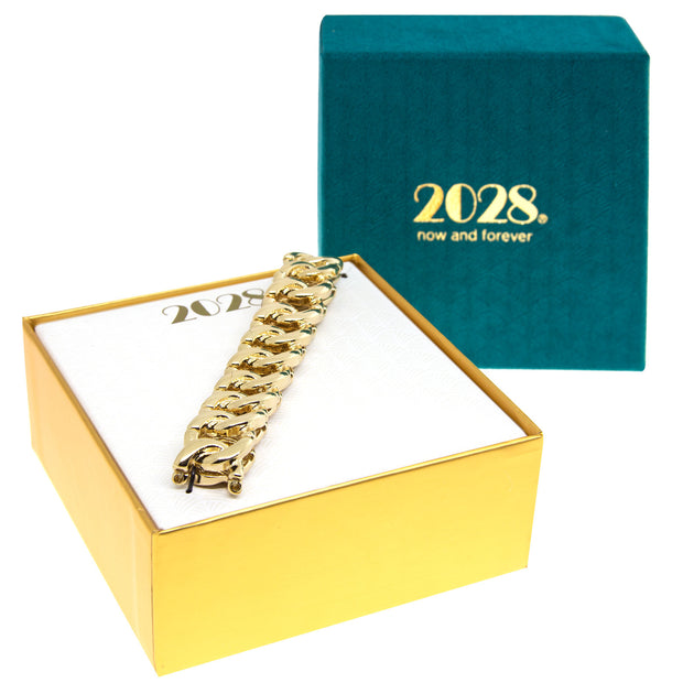 Gold 2028 Jewelry Boxed Modern Stretch Link Bracelet