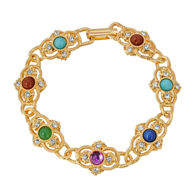 14K Gold Dipped Multi Color Bracelet