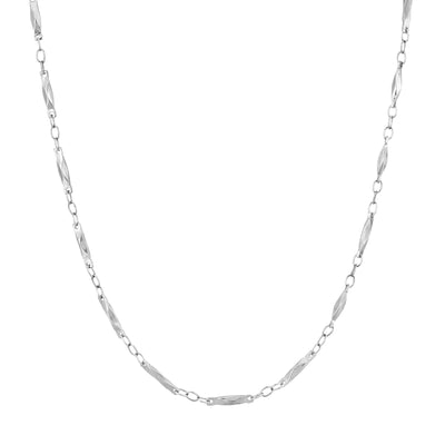 Silver Tone Chain Necklace 16 - 19 Inch Adjustable