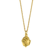 Gold Tone Egg Pendant Necklace 16   19 Inch Adjustable