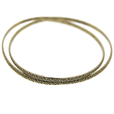 Gold-Tone And Black-Tone Double Bangle Bracelet