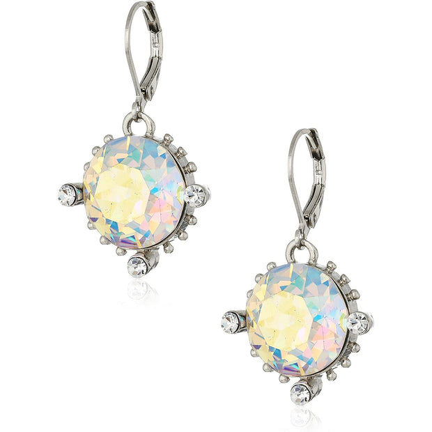 AB Swarovski Crystal Elements Lever Back Drop Earrings