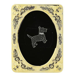 Framed Black-Tone Black Swarovski Crystal Scottie Pin