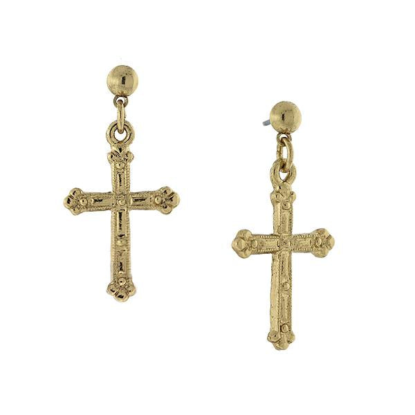 Cross Earrings GOLD