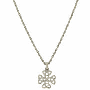 Silver-Tone Celtic Trinity Cross Necklace 16 - 19 Inch Adjustable