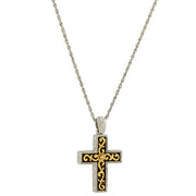 14K Gold-Dipped And Silver-Tone Cross Pendant Necklace 24 In