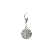 Silver-Tone St. Francis Of Assisi Attachable Pet Collar Tag