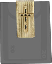 Symbols Of Faith 14K Gold-Dipped Black Cross Money Clip