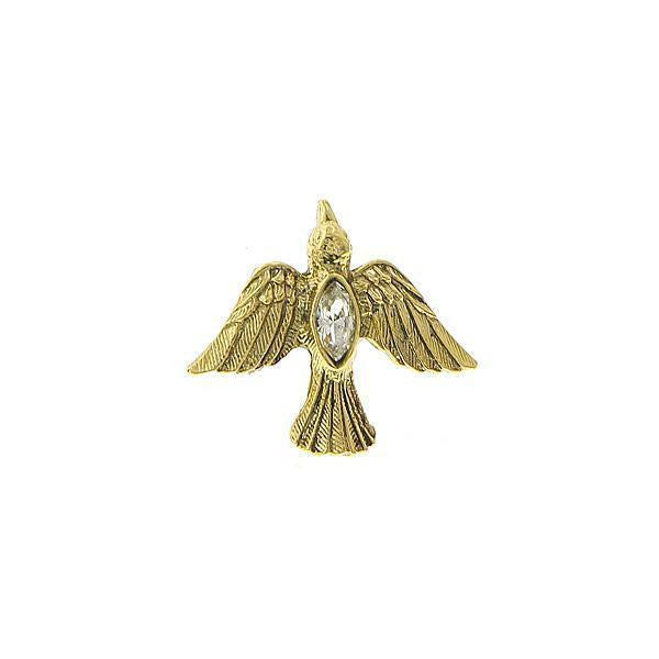 14K Gold Dipped Crystal Holy Spirit Dove Tie Tack