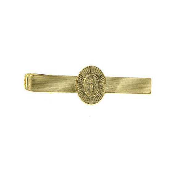 14K Gold-Dipped Mary Tie Bar Clip