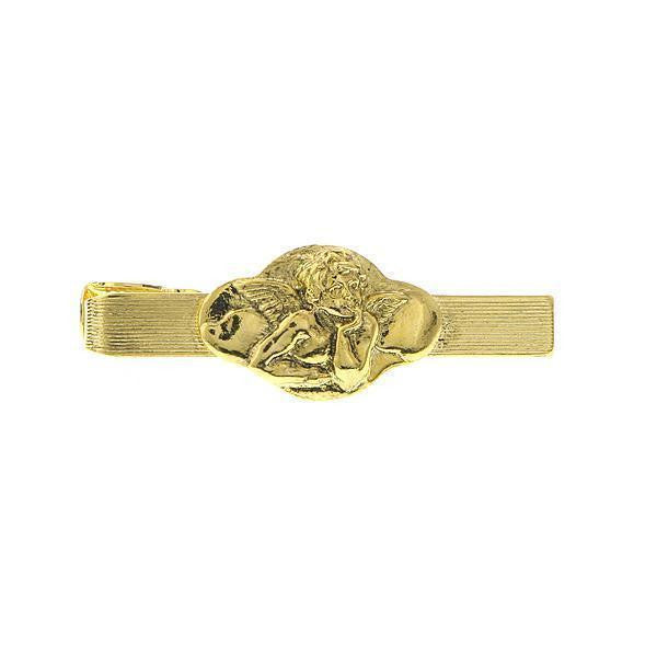 14K Gold Dipped Angel Tie Bar Clip