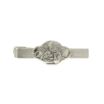 Silver Tone Angel Tie Bar Clip