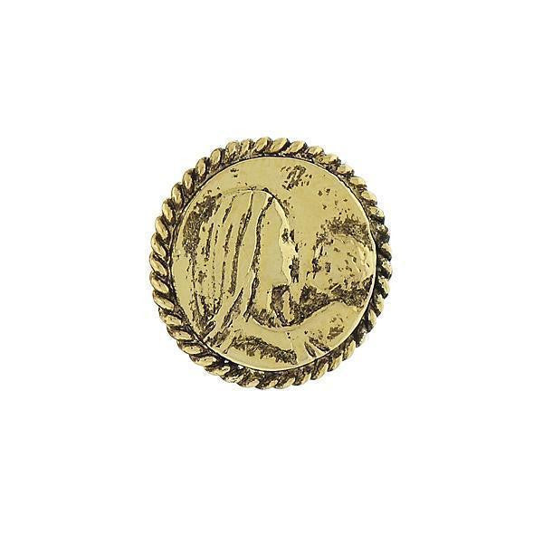14K Gold Dipped Mary And Child Tie Tack