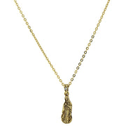 14K Gold Dipped With Crystal Accent Mary Petite Pendant Necklace 16   19 Inch Adjustable