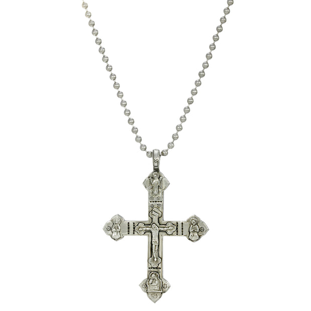 Pewter Large Mens Crucifix 22 Inch