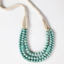 Rope turquoise necklace