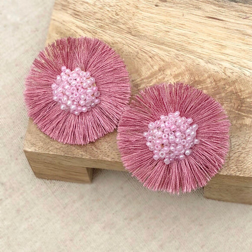Mauve Rose Floral Earring