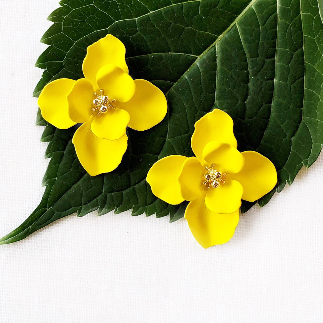 Yellow Blossom Earring
