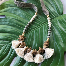 Fringe Ostrich Necklace