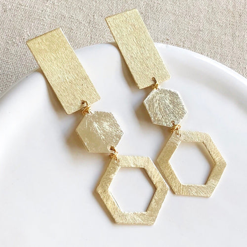 Deco Gold Earring