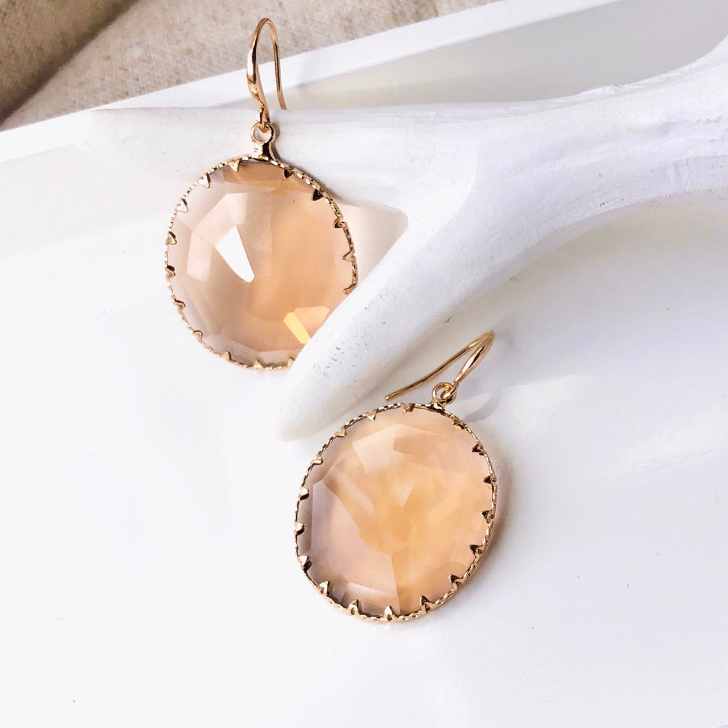 Rosey Topaz earrings