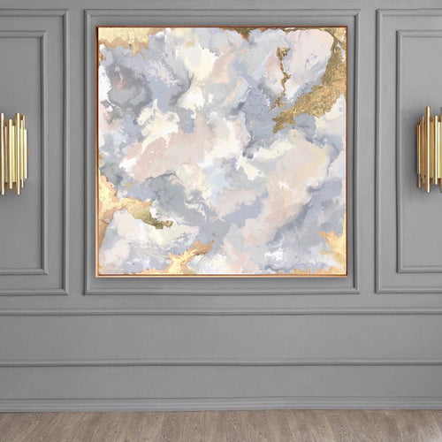 Grey and blush painting