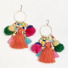 Joie Pom tassel Earring - Orange