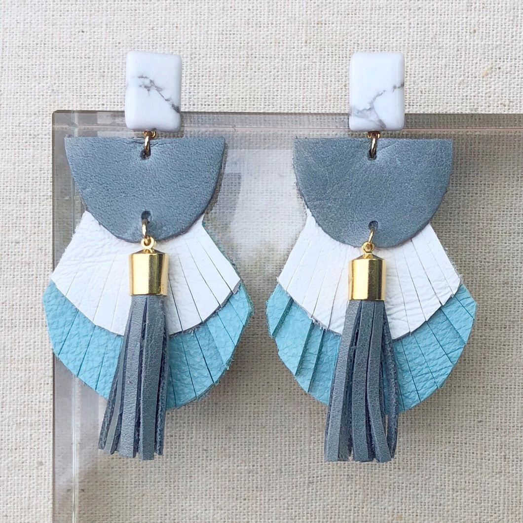Skyler Leather Fringe Earrings