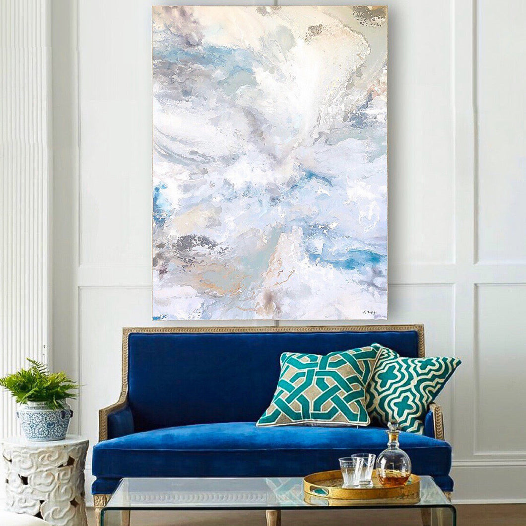 Blue Symphony Original Fine Art Painting  (as seen on HGTV)