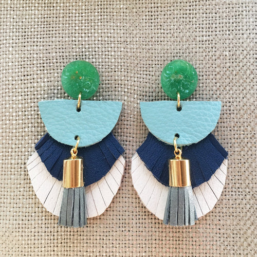 Ansley Fringe Leather Earrings