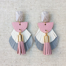 May Fringe Leather Earrings