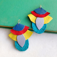 Maddox leather earring