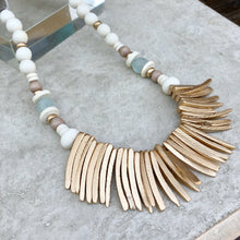 Gold Coconut Wood Necklace