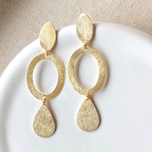 Deco Oval Earring