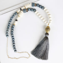 Elecee Grey Tassel necklace