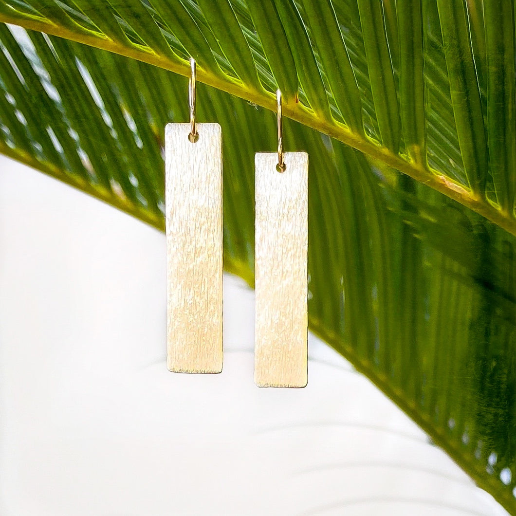 Slim Gold Bar Earring