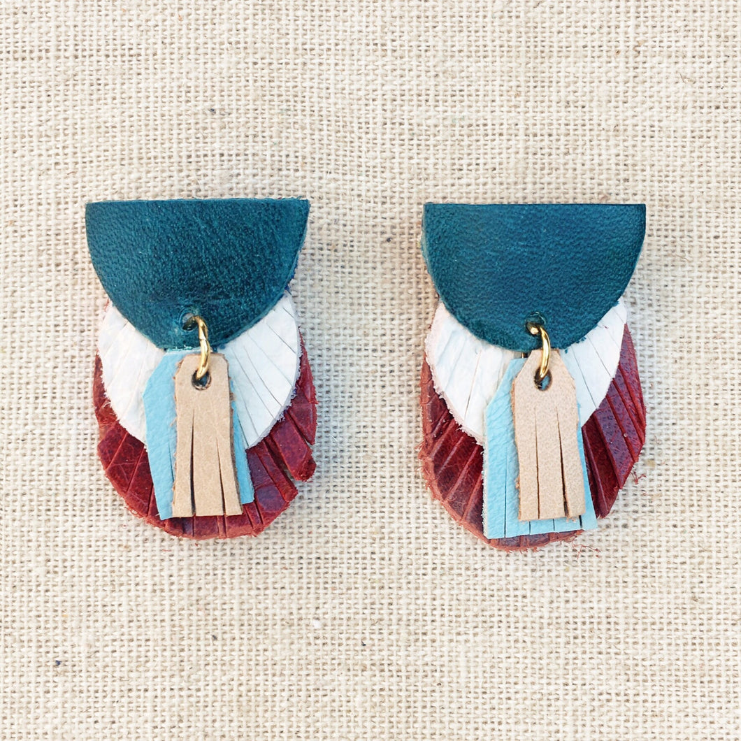 Preston Leather Earring