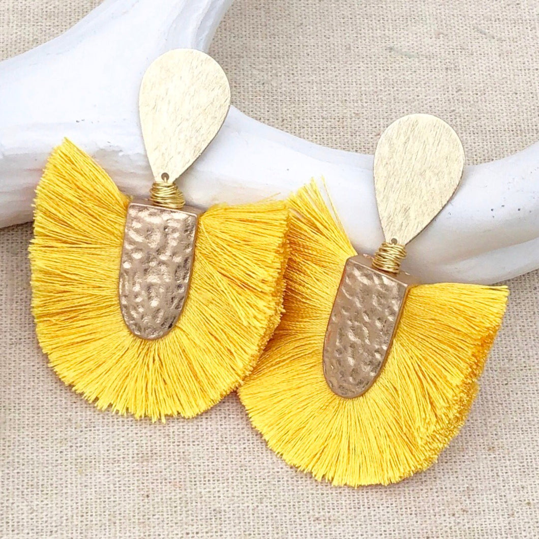 Rosemary Yellow Earring