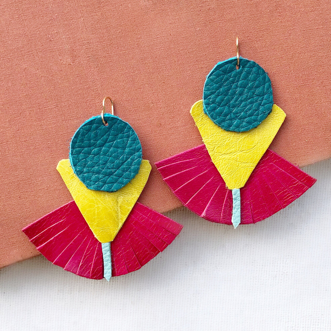 Savannah leather earring