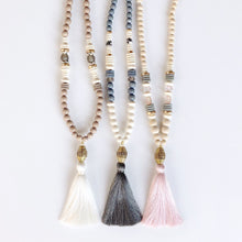 Rhen Ivory Tassel Necklace