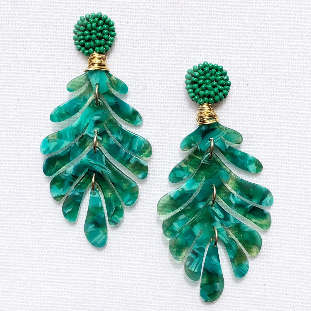 Opus Leaf Green Earring