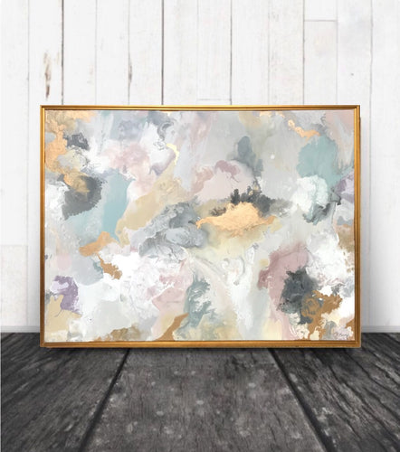 Custom art abstract painting soft colors